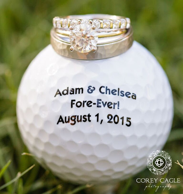 golf ball wedding favor | Corey Cagle Photography