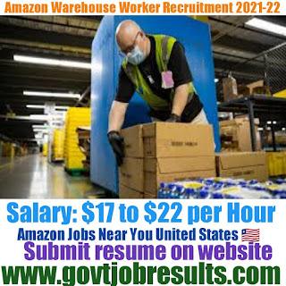 Amazon Warehouse Worker Recruitment 2021-22