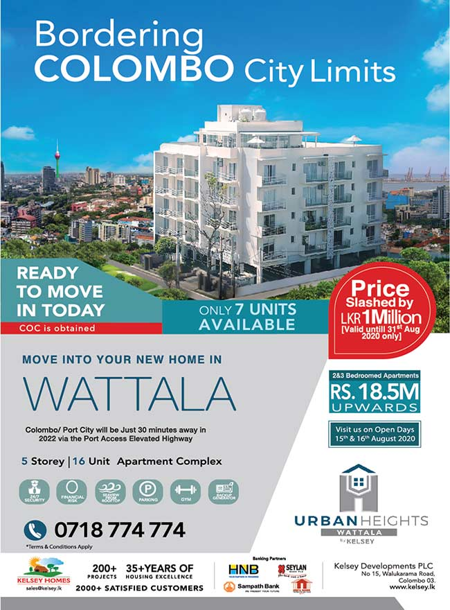 Urban Heights Wattala – Ready to move in TODAY by Kelsey