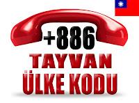 +886 Tayvan ülke telefon kodu