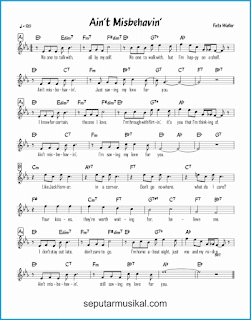 chord ain't misbehavin' lagu jazz standar