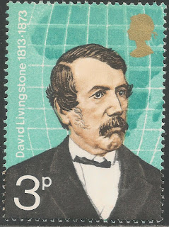 Great Britain 1973 3p David Livingstone and Map of Africa