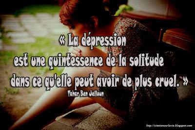 Citation sur dépression ~ Citation sur la vie