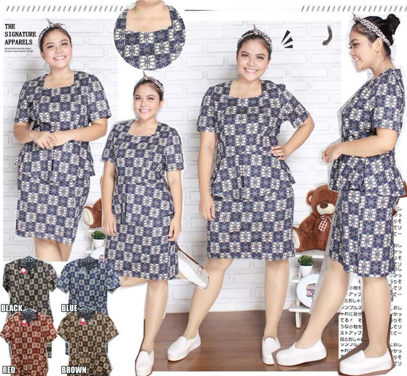 Jual Baju Batik Aimee Batik Dress (Big SIze) - 13133