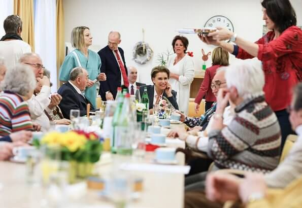 Grand Duchess Maria Teresa visited the Pontalize multifunctional gerontological center in Ettelbruck. Meghan Markle, Duchess of Sussex