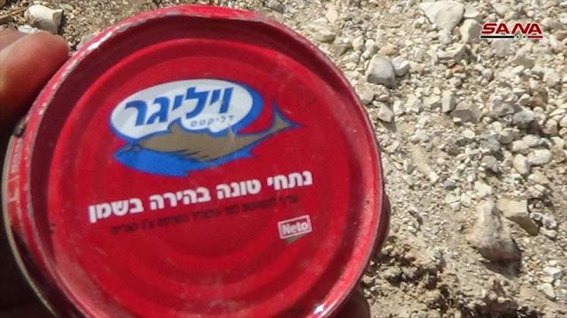 Siria consfisca alimentos israelíes de escondites de Daesh
