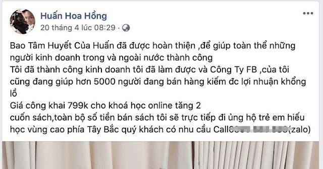 """Huấn Hoa Hồng chính thức lên tiếng về vụ in sách lậu: """"Hiểu biết pháp luật kém"""""""