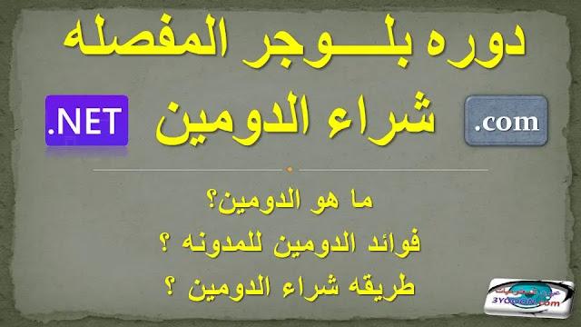 ماهو الدومين وماهي كيفيه شراءه   شراء دومين مدفوع للمدونه عن طريق فودافون كاش او باي بال