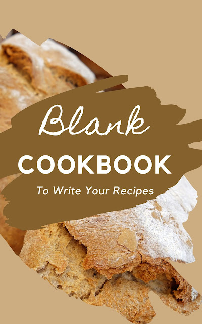 Blank CookBook To Write Your Recipes