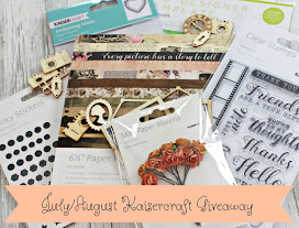 Subscribe to my Mailing List in July or August and go in the draw to win this Kaisercraft Package