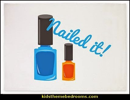 nailed it Area Rug - nail polish rug - nail design decorating ideas