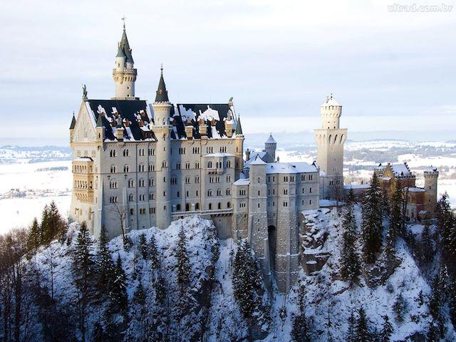 Castelo Neuschwanstein no inverno