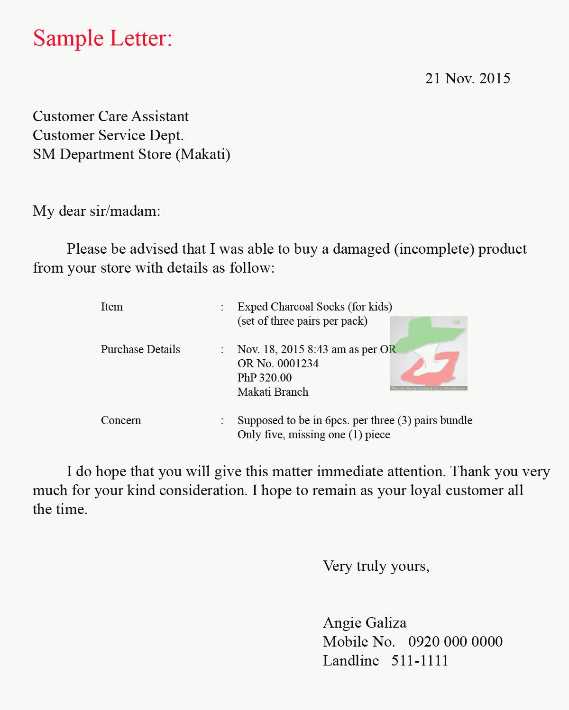 complaint service letter sample complaint letter of bad service all