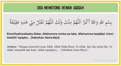 Doa memotong hewan aqiqah dan artinya