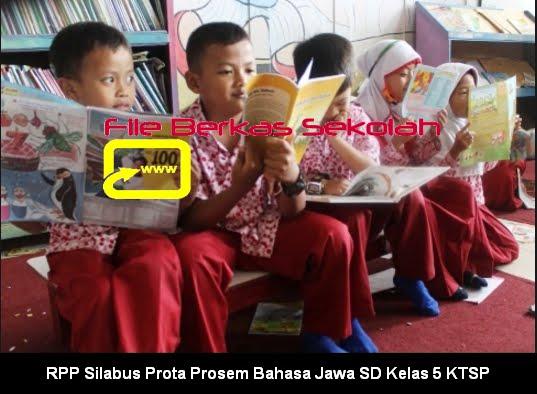 RPP Silabus Prota Prosem Bahasa Jawa SD Kelas 5 KTSP