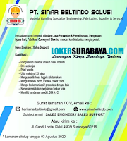 Open Recruitment at PT. Sinar Beltindo Solusi Surabaya Juli 2020