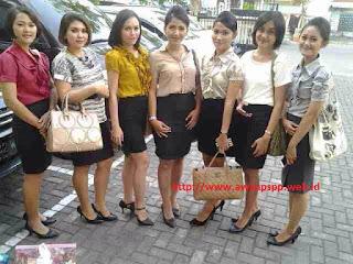 siswi pramugari PSPP Yogyakarta yang mengikuti perekrutan Lion Air