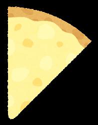 カットされたピザのイラスト(チーズ)