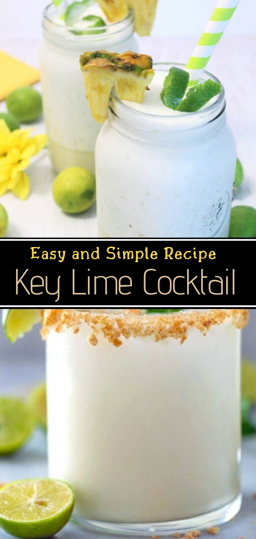 Key Lime Cocktail  #healthydrink #easyrecipe #cocktail #smoothie