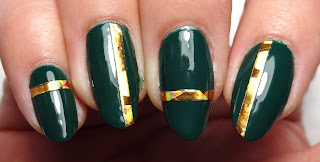 Gold Tape Nails