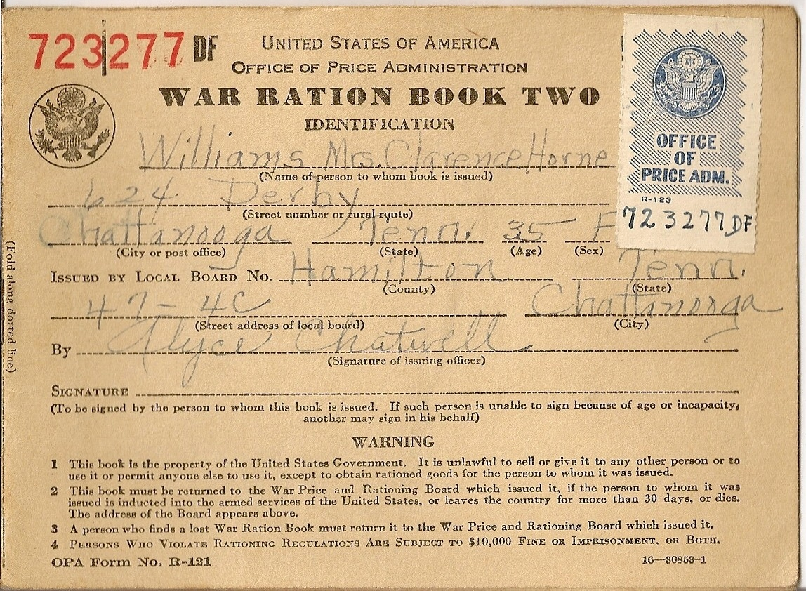 The Sound Of Shaking Paper World War Ii U S Ration Books