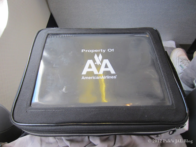 AA 767-200 business class inflight entertainment unit