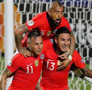 Copa America 2019: Vargas scored twice, Sanchez late goal Chile Holds off Qatar 4-0.