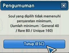 Syarat jumlah Hero Soul bisa ditambah dengan Basic Soul