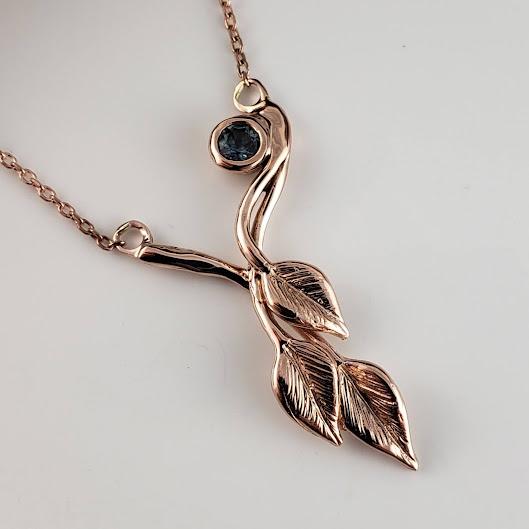 Wedding Leaf and Twig Necklace