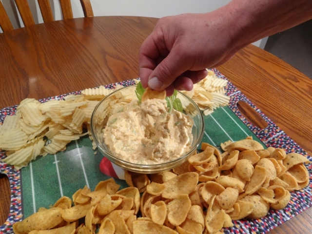 Hearty buffalo blue cheese dip recipe