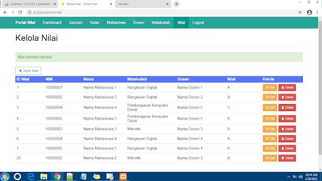 Source Code Sistem Informasi Nilai Mahasiswa