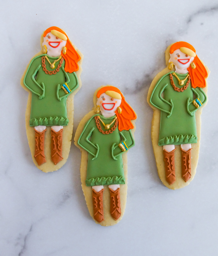 how to make whimsical custom portrait cookies