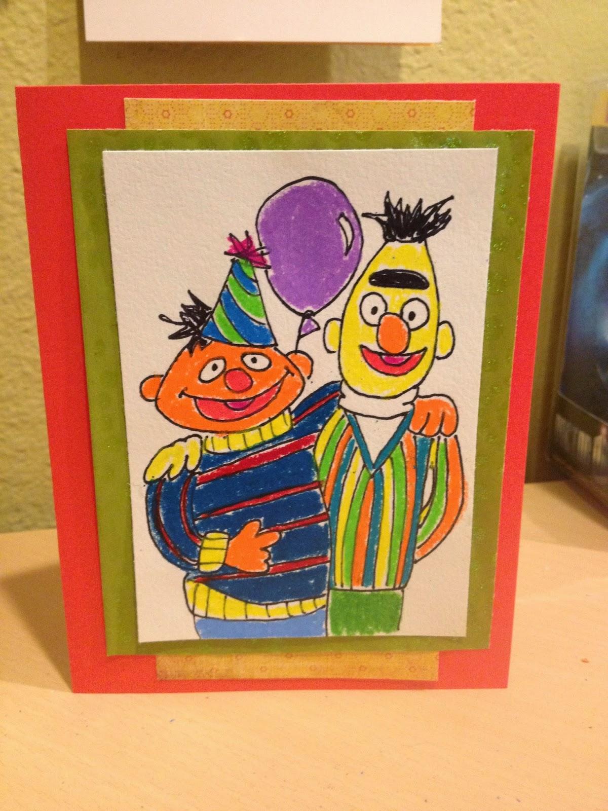 Debbie Dots Greeting Card Blog: Bert And Ernie Birthday