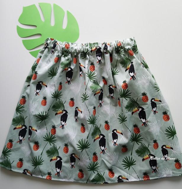 Bulles de Plume - couture facile jupe enfant