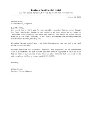 Appreciation Letter Samples