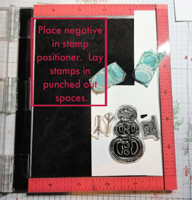 Stampin' Up! Builder punch tip using stamp positioning tool