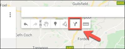 اضغط على خيار إضافة الاتجاهات لإضافة طبقة اتجاهات جديدة إلى خريطة خرائط Google المخصصة