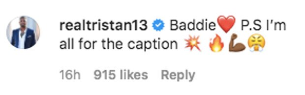 Tristan's flirty comment over ex Khloe Kardashian's photo