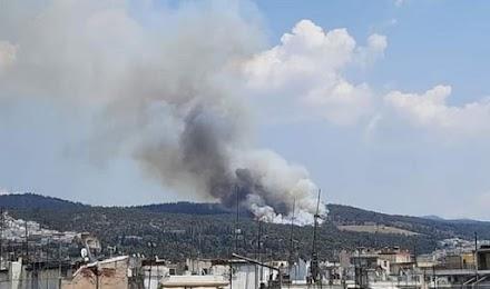 Έκτακτο : Μεγάλη φωτιά στο Σείχ Σου  (video)