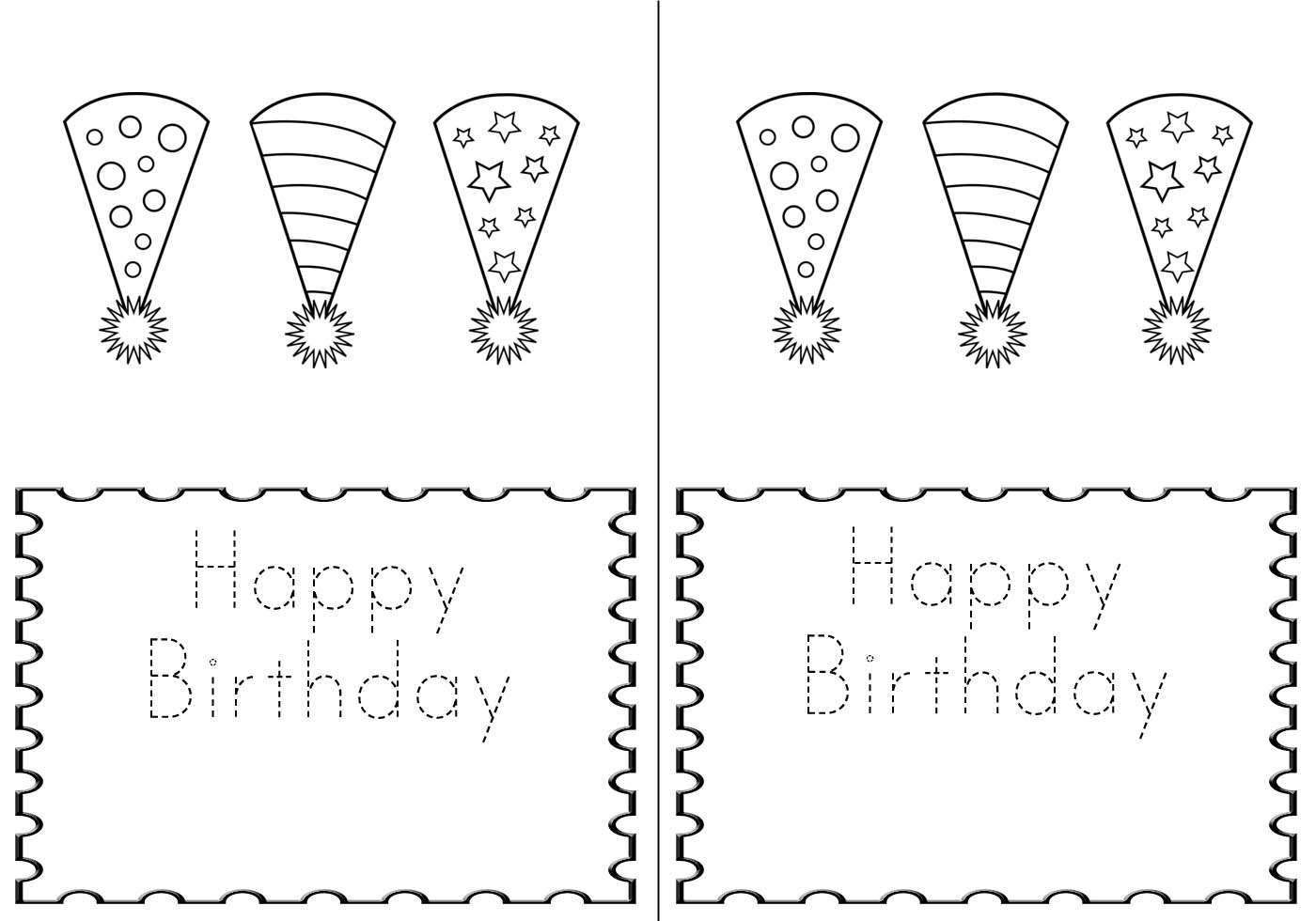 M Double M A Birthday Card For The Kiddos Printable