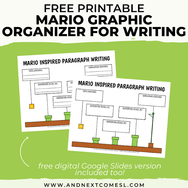Mario themed graphic organizer for writing