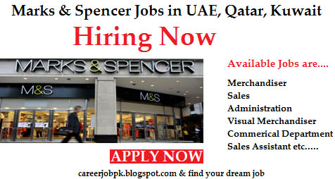 Marks and Spencer Jobs in Dubai