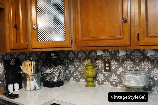 Kitchen aid mixer in cottage kitchen