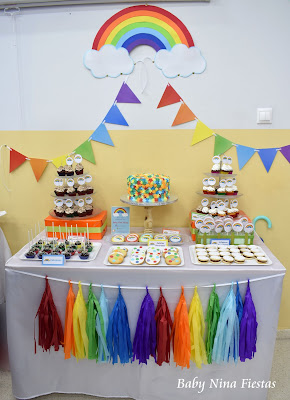sweet table arcoiris