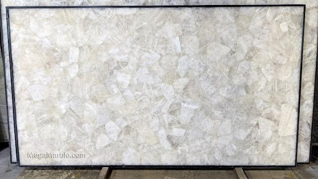 White Semi Precious Stone Slabs