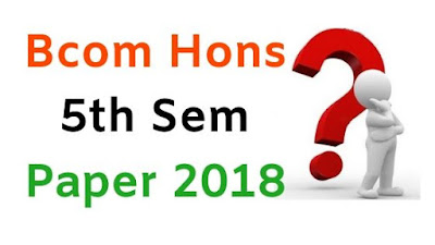 BCom (Hons) 5th Sem Question Papers 2018 Mdu (Maharshi Dayanad University)
