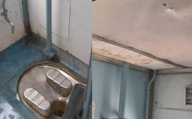 ट्रेन की टॉयलेट में गांजे की तस्करी