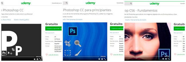 cursos udemy gratuitos para photoshop
