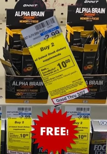 FREE Alpha BRAIN Instant Drink Mix CVS