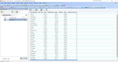 Tabel Data Penduduk di MapInfo